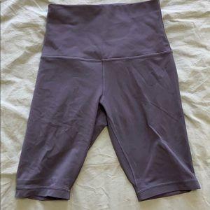 "Lululemon Align Biker Shorts 10"" (Grey)"